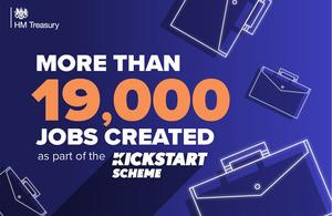 More than 19,000 jobs created by Kickstart Scheme so far