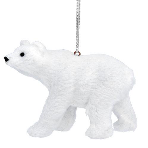 Faux Fur Polar Bear Decoration