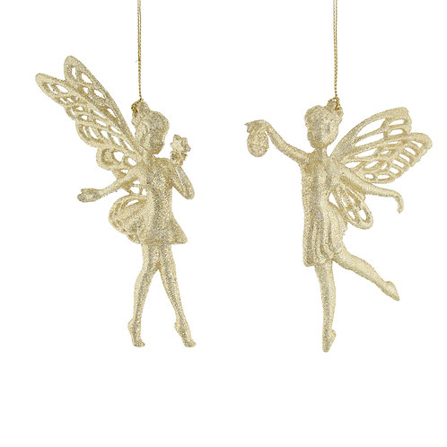 Champagne Gold Glitter Fairies at The Sussex Christmas Barn