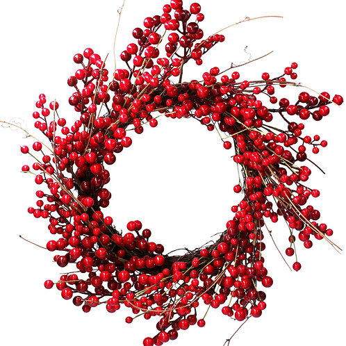 Large Red Berry/Twig Wreath