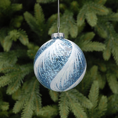 8cm Blue and White Hanging Decoration