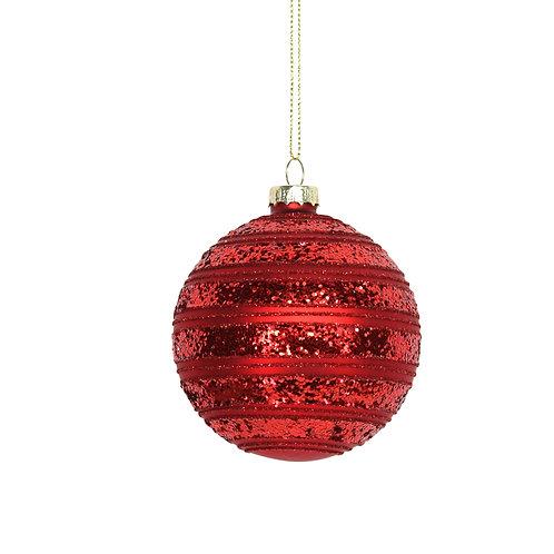 Matt/Glitter Cherry Red Astral Ball