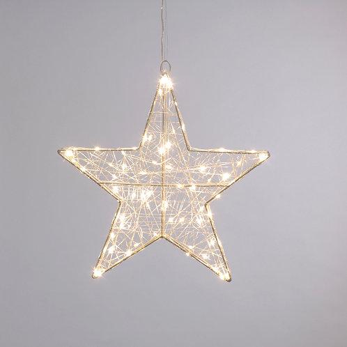 Twinkling dewdrop star light - warm white
