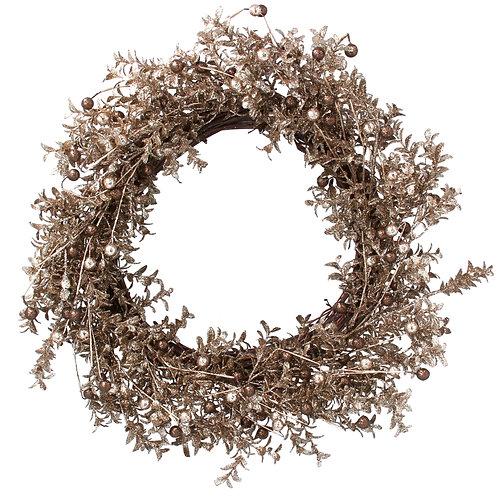Copper/Gold Fine Leaf/Berry Wreath