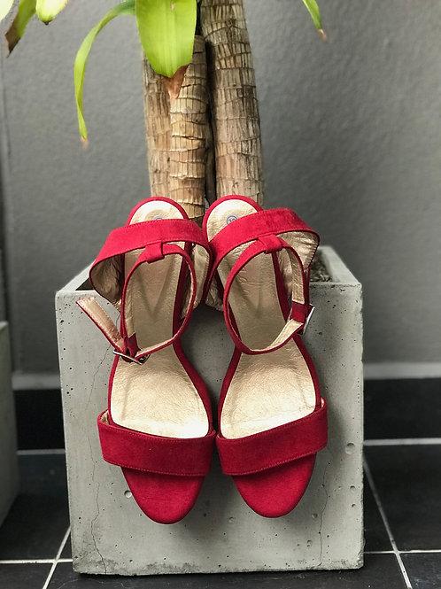 Sandalias básicas rojas