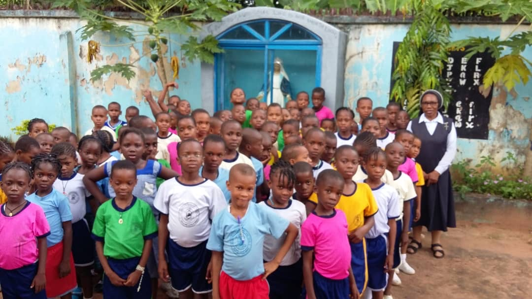 Some children at the convent nursery/primary school.