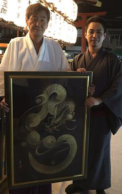 瀧尾神社 宮司様と・・