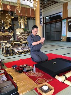 専念寺での奉納演武風景