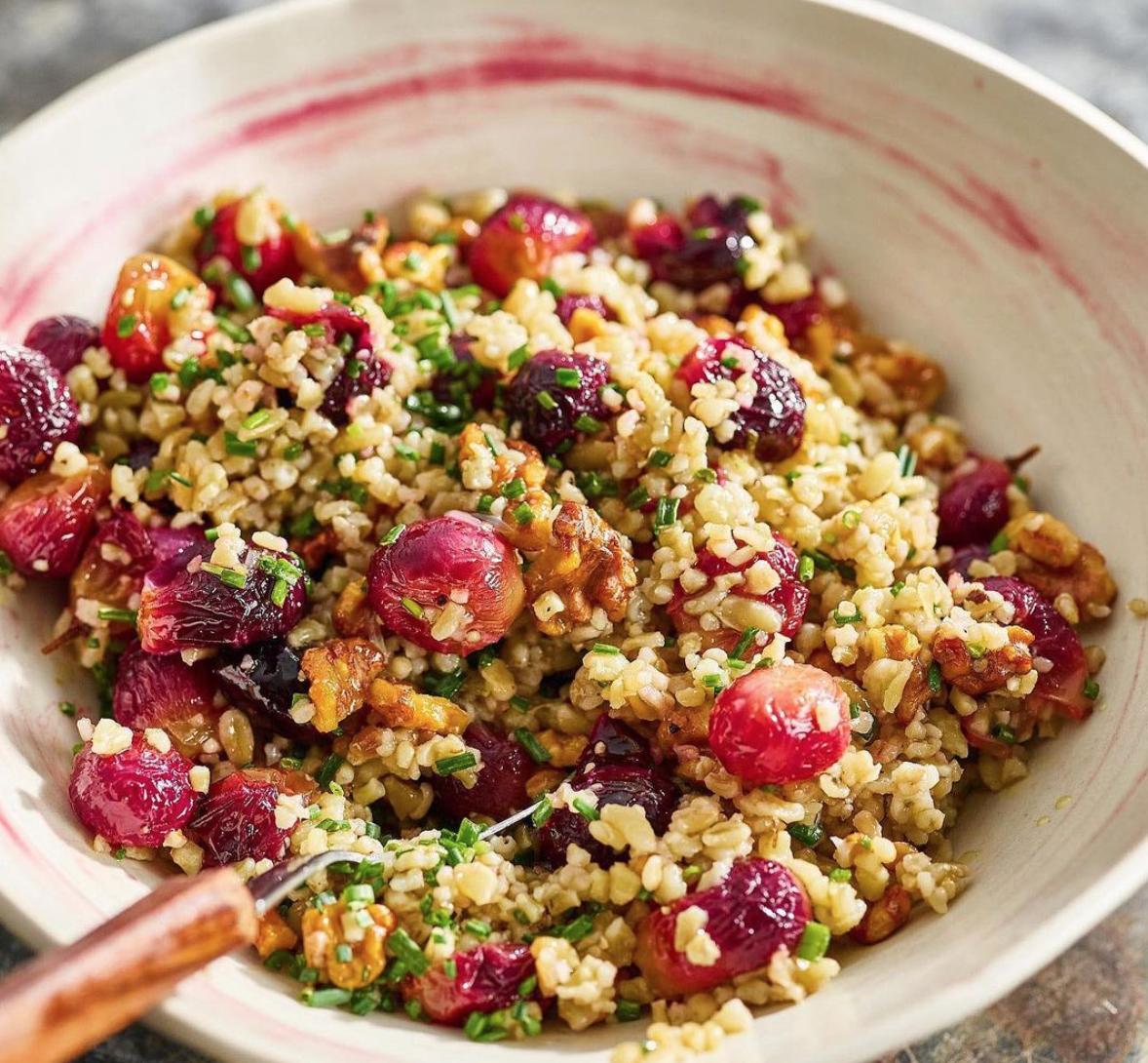Freekah & Roasted Grape Salad