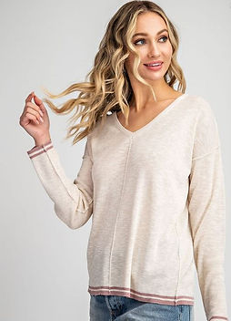 Tan Pullover Stitched Sweater 2.JPG