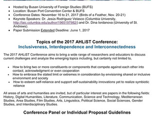 Inclusiveness, Interdependence and Interconnectedness (2017 Association of History, Literature, Scie