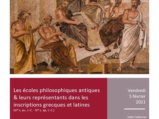 """Worshop """"Hairesis"""": Les écoles philosophiques antiques... - 05/02/2021, Lyon (France)"""