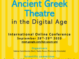Ancient Greek Theatre in the Digital Age - 28-29/09/2020, (Online)