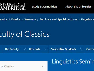 Cambridge Linguistics and Philology Seminars - 28/10, 04-11-18-25/11, 02/12/2015, Cambridge (England