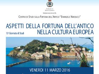 Aspetti della Fortuna dell'Antico nella Cultura Europea - 11/03/2016, Sestri Levante (Italy)