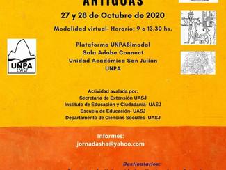 Jornadas Patagónicas de Estudios sobre Sociedades Antiguas - 27-28/10/2020, (Online)