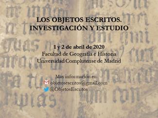 """I Jornadas de Jóvenes Investigadores en Ciencias y Técnicas Historiográficas """"Los objetos escri"""