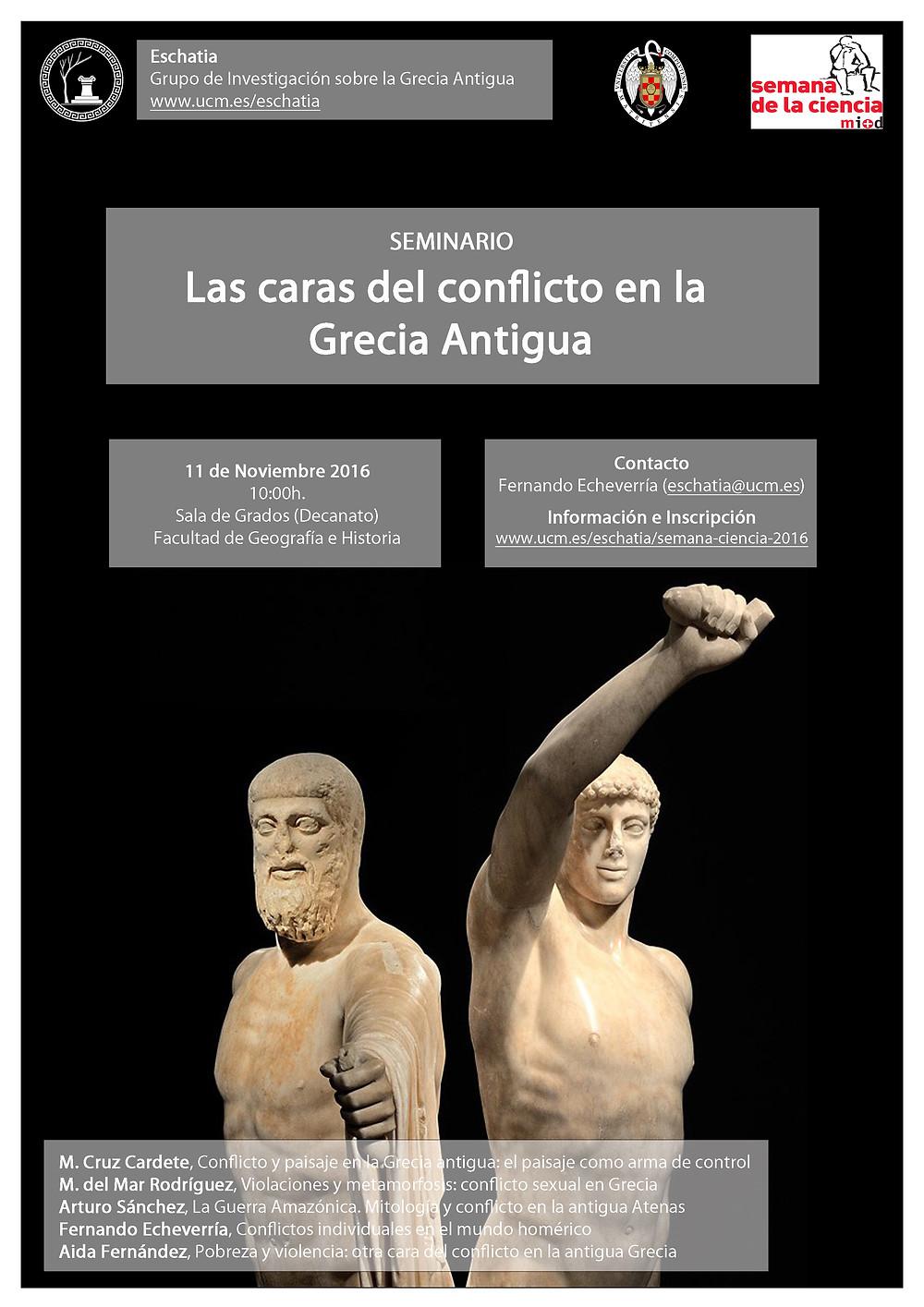 Las caras del conflicto en la Grecia Antigua - 11/11/2016, Madrid (Spain)