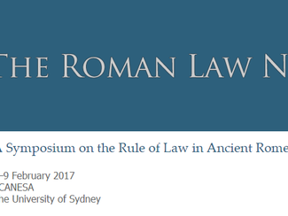 The Rule of Law in Ancient Rome - 08-09/02/2016, Sydney (Australia)