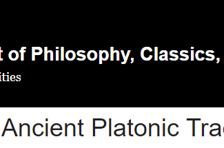 6th annual Oslo Ancient Philosophy Conference: Plato and the Ancient Platonic Tradition - 09-10/11/2