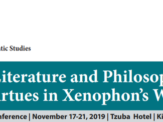 Where Literature and Philosophy Meet: The Virtues in Xenophon's Writings - 17-18-19-20-21/11/2019, T