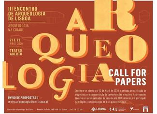 [POSTPONED] III Encontro de Arqueologia de Lisboa – 25-26/03/2021, Lisboa (Portugal)