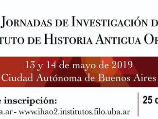 I Jornadas de Investigación del Instituto de Historia Antigua Oriental - 13-14/05/2019, Buenos Aires