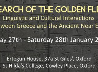 """""""In Search of the Golden Fleece"""" Linguistic and Cultural Interactions between Greece and the Ancient"""