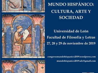 CALL. 15.07.2019: V Congreso Internacional De Jóvenes investigadores. Mundo Hispánico: Cultura, Arte