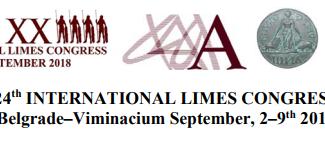24th Limes International Congress - 02-03-04-05-06-07-08-09/09/2018, Belgrade (Serbia)