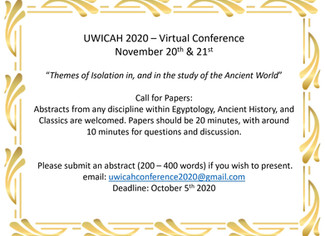 UWICAH 2020: Themes of Isolation in, and in the study of the Ancient World - 20-21/11/2020, Microsof