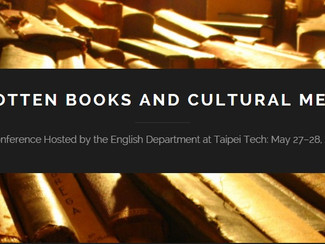 Forgotten Books and Cultural Memory Conference - 27-28/05/2016, Taipei (Taiwan)