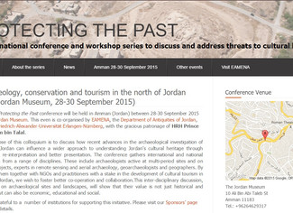 Archaeology, conservation and tourism in the north of Jordan - 28-29-30/09/2015, Amman (Jordan)