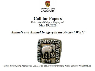 Animals and Animal Imagery in the Ancient World [POSTPONED] - 29/05/2020, Calgary (Canada)