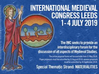 XXVI International Medieval Congress 2019 - 01-02-03-04/07/2019, Leeds (England)