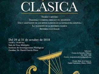 II Simposio Internacional de Tradición Clásica - 29-30-31/10/2018, México D.F. (Mexico)