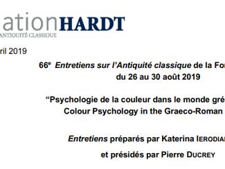 66th  Entretiens sur l'Antiquité classique: Psychologie de la couleur dans le monde gréco romain - 2