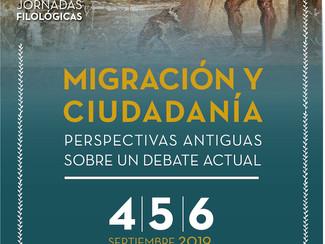 IX Jornadas Filológicas. Migración y ciudadanía: perspectivas antiguas sobre un tema actual - 04-05-