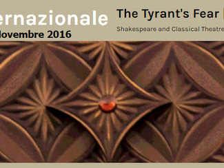 Simposio internazionale: La paura del tiranno - 10-11/11/2016, Verona (Italy)