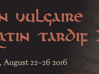 Latin vulgaire – latin tardif XII -22-23-24-25-26/08/2016, Uppsala (Sweden)