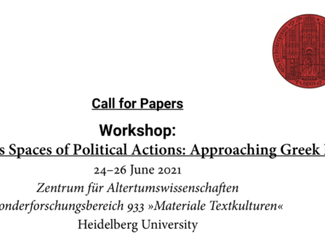 Workshop: Sanctuaries as Spaces of Political Actions... -24-25-26/06/2021, Heidelberg (Germany)