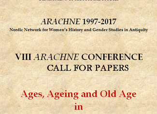 Age, Ageing and Old Age in Greco-Roman Antiquity - 25-26-27/10/2017, Gothenburg (Sweden)