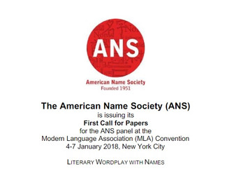 [Panel at the Modern Language Association Convention] Literary Wordplay with Names - 04-05-06-07/01/