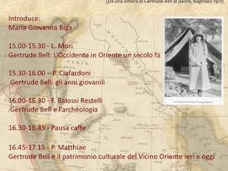 Gertrude Bell. L´Occiente in Oriente - 14/03/2016, Roma (Italy)