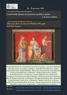 Women's Roles in Ancient Political Thought and their Legacy - 28-29/01/2021, (Online)