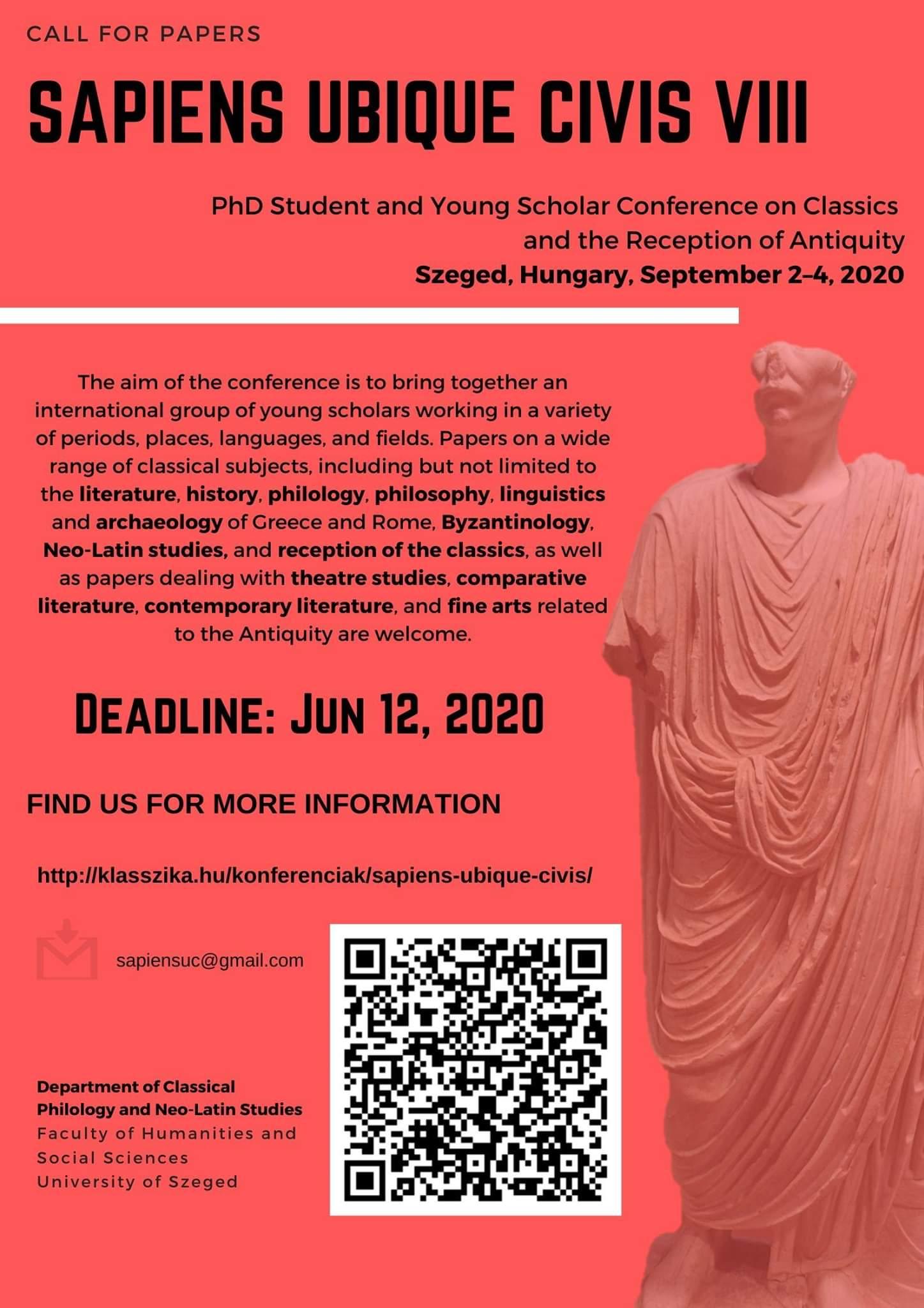 CALL. 12.06.2020: Sapiens Ubique Ci