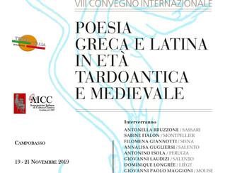 """VIII Convegno internazionale """"Poesia greca e latina in età tardoantica e medievale"""" - 19-2"""