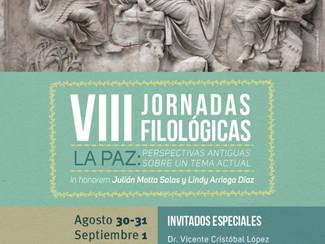 VIII Jornadas Filológicas. La Paz: perspectivas antiguas sobre un tema actual - 30-31/08-01/09/2017,