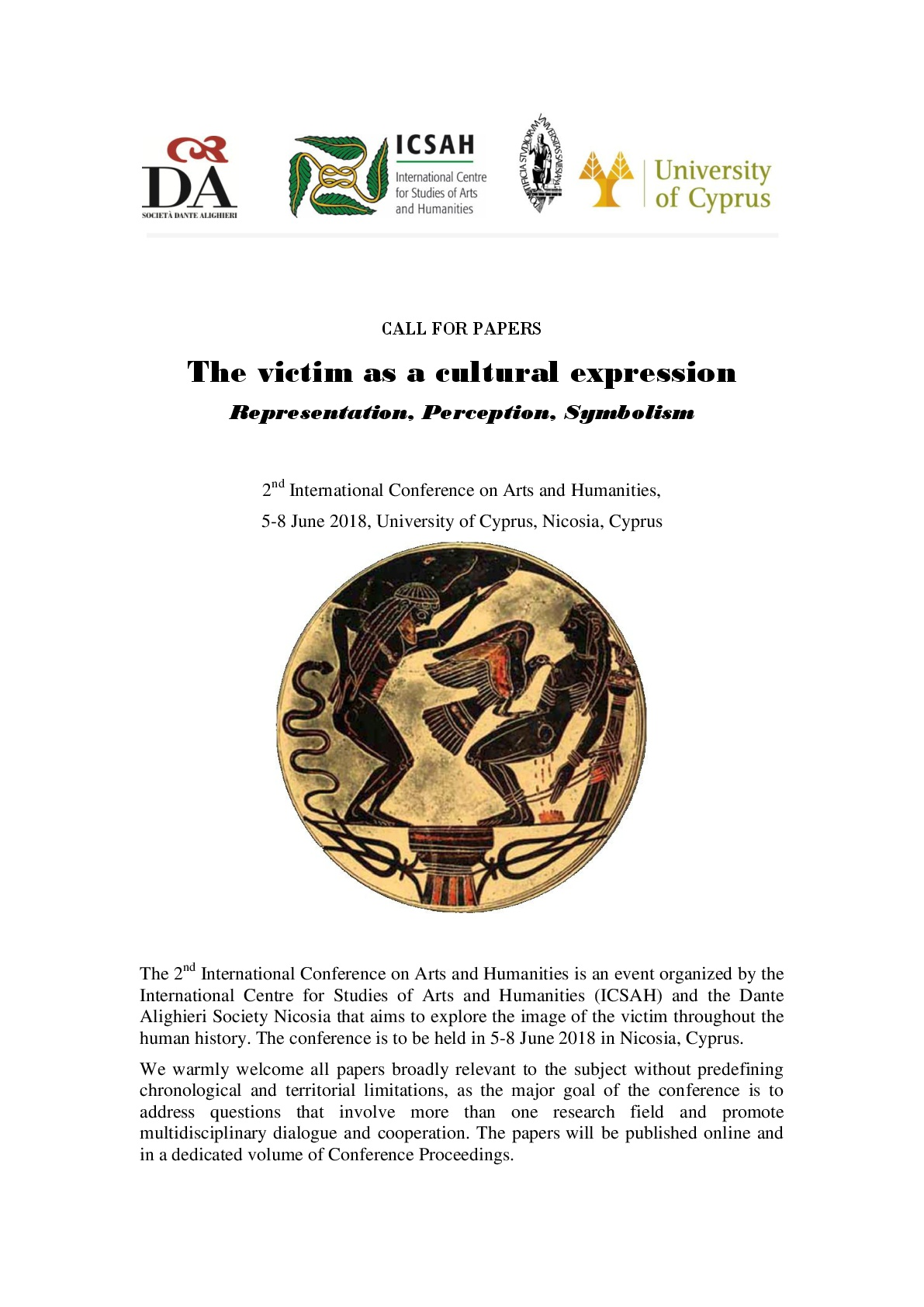 CALL  30 04 2018: The victim as a cultural expression