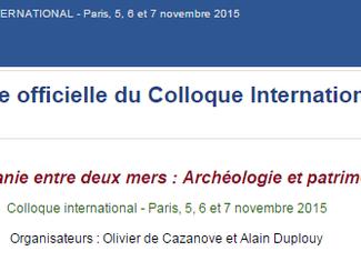 La Lucanie entre deux mers : Archéologie et patrimoine - 05-06-07/11/2015, Paris (France)